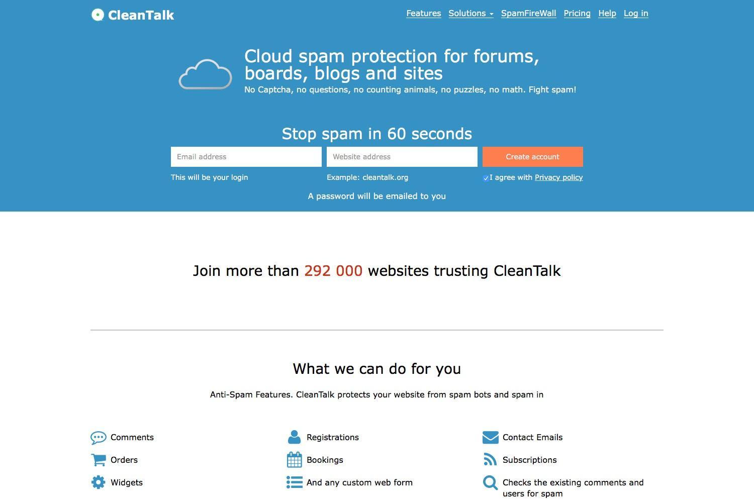 Why do we include the premium version of CleanTalk on all hosting packages?